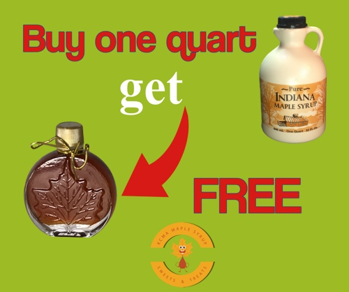 Maple Syrup Grade A Amber Rich Taste Quart + free Gift